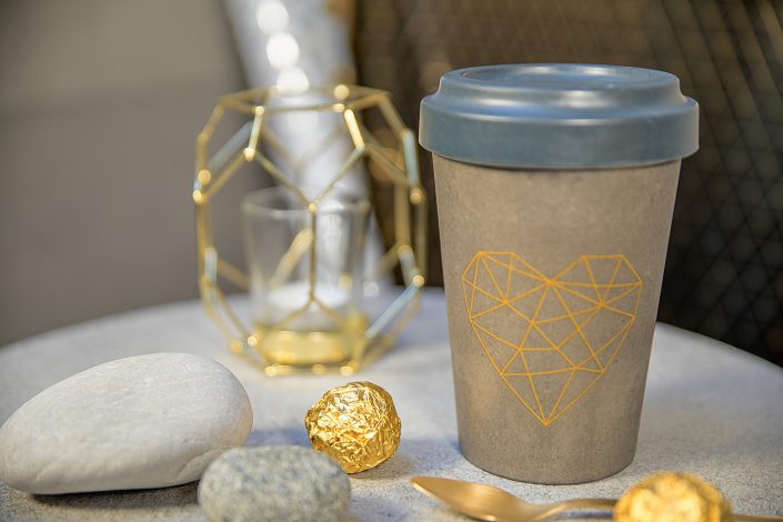 Geometric Heart TravelMug